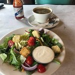 Side dishes of a house salad & cup of gumbo (included)