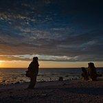 Solnedgång över Langhammar