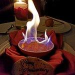 Creme brulee flambe