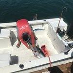 Captain Carlos Jr fileting the fish