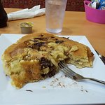 Mad monkey pancakes, half eaten, SOO GOOD