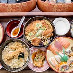 A selection of Japanese food, hot and cold
