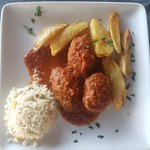 Soutzoukakia ~ meat balls in tomato sauce