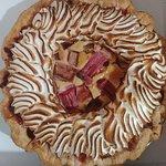 Rhubarb Custard Meringue Pie