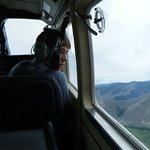 Flying out of the Salmon River