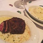 Perfect and tasty steak and mashed potatoes