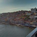 Vista da parte superior da Ponte Dom Luis I, Porto