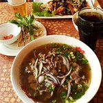 Viet Nam House, Oslo. Pho bo (beef soup) in the front