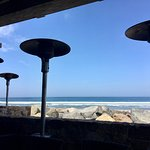 View of the ocean from their patio dining.