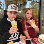Kids enjoying their lemonade