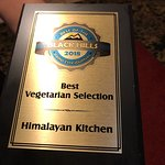 Himalayan Kitchen's Vegetarian Award, Owner, Wonderful Ambiance, Lunch buffet area and Indian be