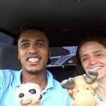 Lukman of Friendly Taxi & Tours making new friends!