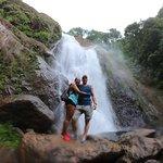 Hiking to the waterfall!
