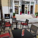 Outside seating at Taverna Zoto