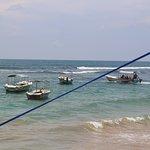 Hikkaduwa beach & glass boats