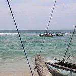 Hikkaduwan beach fisherman boat