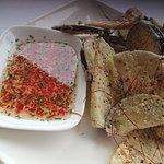 Salt and pepper eggplant with chilli lime vinaigrette