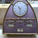 Enamelled clock Faberge museum