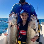 Father and son day!!🐠 No words can describe 👌🐟🐠proud Riley with his dad John and a couple of
