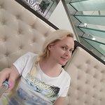 В Шоколаднице на диване.
