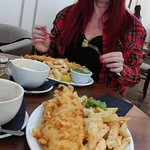 fish n chips and my beautiful woman