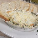 Home made Spinach dip that starts a great meal!