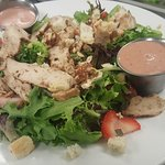 We also make some wonderful salads. This one is the Strawberry salad with chicken.
