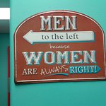 Sign outside the bathrooms. :)
