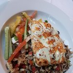 Grouper with pan-seared fried rice