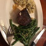 Filet Mignon with Risotto and Green Beans