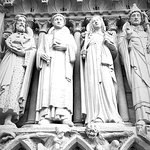 statues on the outside of the cathedral
