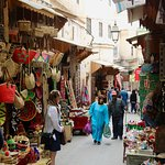 A typical street in the Medina although it was not a busy time.