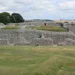 Part of the castle ruins at Old Sarum