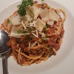 Gluten free pasta bolognese