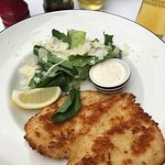 Pollo Milanese with Caesar salad