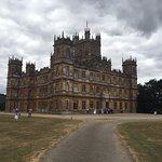 Highclere Castle as you approach through the grounds.