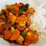 Sweet and Spicy Chilli Prawns