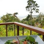 salad on the balcony
