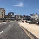 View from the classic convertible ride along the Malecon.