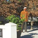 Nelson Mandela statue in garden