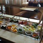 The salad bar in the Largo Cafe