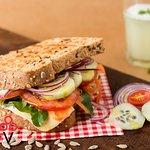 sandwich vegetariano, vasko helados de autor