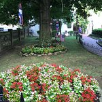 Flowers and July 4th decor at the Village 2018