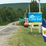 Start of the Cabot Trail