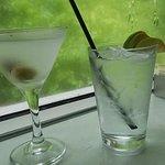Perfectly made Bombay Safari Gin Martini and Bombay Safari Gin and Tonic.