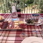 Lunch on Samuela's terrace. Wild boar to die for!