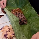 Monkey Lunch, rapped in a large banana leaf.
