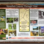 Spearfish Canyon Through Time (attraction sign board)
