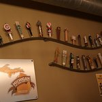 Old taps line the wall