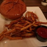 GREAT burger and fries